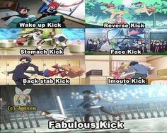 All the types of kicks :D XD