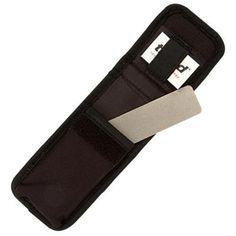 Pierre à affûter diamantée de poche 127mm. Identique à la référence DWS/PP5/FC avec un étui et un bloc de nettoyage.