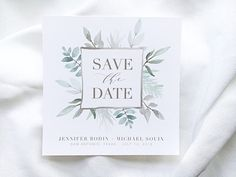 Printable Save the Date || Modern Wedding Stationary || Bohemian Wedding || Jennifer Collection