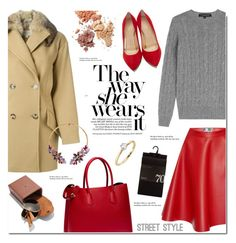 """""""street style-leather skirt"""" by cly88 ❤ liked on Polyvore featuring Ralph Lauren Black Label, MSGM, MICHAEL Michael Kors, Charlotte Olympia, Prada, Tiffany & Co., Betsey Johnson, women's clothing, women and female"""