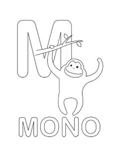spanish alphabet coloring page m