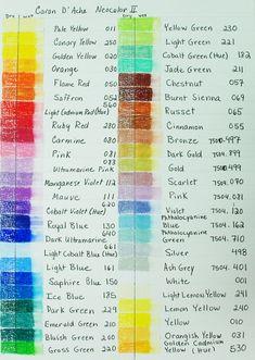 """fantastic Caran d""""ache color chart"""