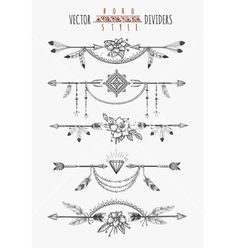 Arrow feather drawing page dividers. Wild boho gypsy romantic elements for invitation design. Vector illustration Arrow feather drawing page dividers. Wild boho gypsy romantic elements for invitation design. Boho Tattoos, Trendy Tattoos, Body Art Tattoos, Small Tattoos, White Tattoos, Ankle Tattoos, Temporary Tattoos, Small Arrow Tattoos, Tatoos