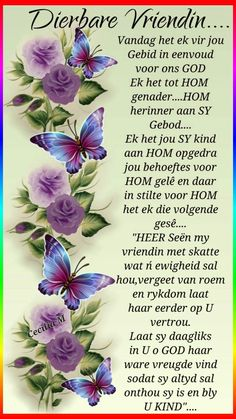 Afrikaans Quotes About Friendship and Pincelia On Net Mooi Birthday Wishes Quotes, Happy Birthday Wishes, Birthday Greetings, Birthday Cards, Tot Hom, Evening Greetings, Afrikaanse Quotes, Goeie Nag, Goeie More