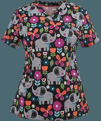 White+Cross+Scrubs+Bellaphant+V-Neck+Print+Top. Check out that cool T-Shirt here: https://www.sunfrog.com/Funny-nurse-T-Shirt-Black-Ladies.html?53507