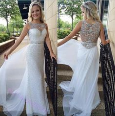Prom Dress, Latest Prom Dress, Crystal Prom Dress, Sheath Prom Dress, 2016 Prom Dress With Beadings, Sequined Prom Dress, Floor Length Prom Gown