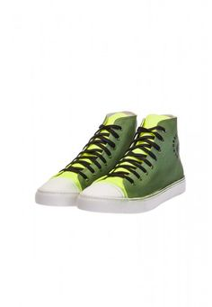 Undersolo Scarpe Sneakers Unisex | MilitarFluo Special #shoes #sneakers #military #yellow #fluo