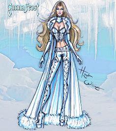 Hayden Williams Fashion Illustrations: Marvel Divas by Hayden Williams : Emma Frost