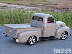 This 1951 Ford F-1 truck is a classic truck on the outside, with a slightly modern twist. The Ford Racing 4.6L V-8 packs a nice punch too.