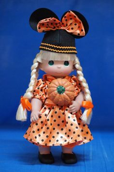 Mouseketeer Boo Blonde Fall 2014 Doll Precious Moments Disney Signed 4956 #PreciousMoments #VinylDolls