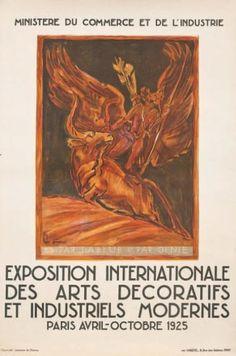 Exposition internationale des arts décoratifs et industriels modernes - Paris - 1925 - illustration de A. Bourdelle -