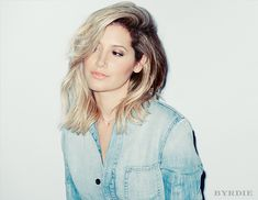 Ashley Tisdale's deep side part with perfectly undone waves has just right amount of edge. // #HairStyles #Tips
