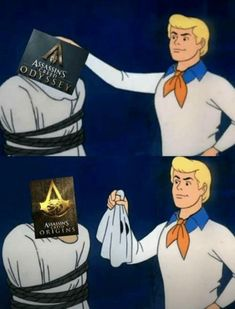 Ubisoft:Did you like the new assasin's creed game? Reddit user:Don't you mean... Instant repost:Prety much the same game but with some really cool new features
