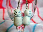 Evil Snowman Earrings by thedustyphoenix