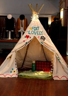 TIPI reading nook for the western themed classroom.
