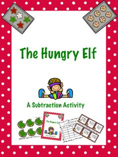 A great addition to any subtraction, holiday, or Elf on the Shelf unit! Ernie the Elf is hungry, and cookies happen to be his favorite food! Students will love this hands-on subtraction activity about a mischievous elf on the search for cookies. This file includes 45 word problem cards for take-away and missing addend subtraction situations:11 cards: take-away problems starting with 10 cookies10 cards: take-away problems starting with 9 cookies12 cards: missing addend problems, start…