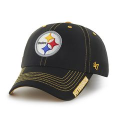 new style a41a2 cceb5 Pittsburgh Steelers Dark Twig Black 47 Brand Adjustable Hat