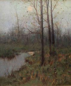 """""""Serene Marsh,"""" Arthur Hoeber, oil, Bedford Fine Art Gallery."""