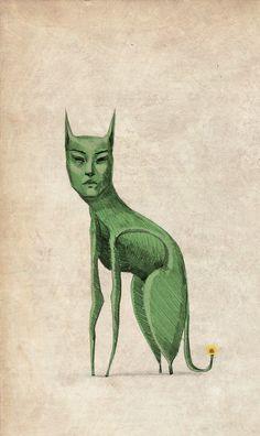 Green miaow.