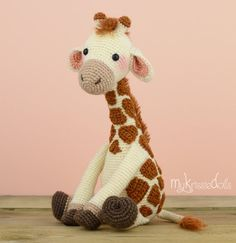 Crochet patrones-Girafje Romy por MyKrissieDolls en Etsy
