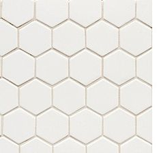 """MAID'S BATH - Walker Zanger:  6TH AVENUE  Ceramic Hexagon Mosaic : 2''- To be paired with matching 3""""x6"""" subway tile"""