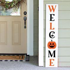 Halloween Wood Signs, Halloween Porch, Diy Halloween Decorations, Home Decor Signs, Diy Signs, Scary Pumpkin, Porch Signs, Halloween Coloring, Sign Design