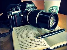 A camera, book, and hot cocoa is all I need.