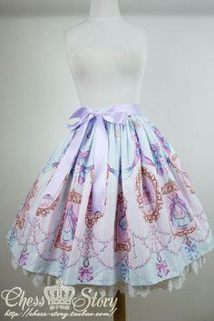 Chess Story - La Robe de Cinderella Skirt /// ¥328 /// Waist:  59 ~ free cm Length:  52 cm