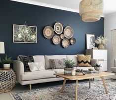 50 Best Blue Living Room for Gorgeous And Dlegant Spaces,navy blue living room ideas,grey and blue living room ideas,blue living room color schemes Best Picture For baskets decor bathroom For Your Tas Diy Home Decor Living Room, Navy Blue Living Room, Beige Living Rooms, Accent Walls In Living Room, Living Room Color Schemes, Living Room Designs, Blue Living Room Paint, Grey Living Room Ideas Colour Palettes, Living Room Color Combination
