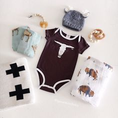 NEW Longhorn Bull Onesies in Chocolate! shop NEW arrivals at spearmintLOVE.com