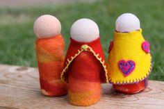 Making Waldorfaire peg dolls 6