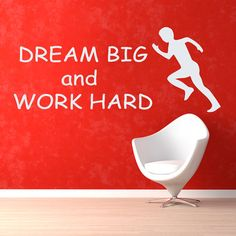Sport Wall Decals Quotes Runner Dream Big by WallDecalswithLove
