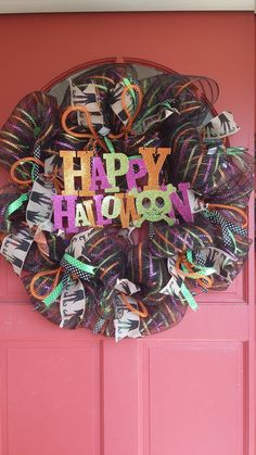 Check out this item in my Etsy shop https://www.etsy.com/listing/479815089/halloween-deco-mesh-wreath