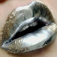 Lip Art is the latest beauty trend and these lip art beauty tutorials show you how to get this look! From patriotic lip art to halloween lip art, there's a lip look for every occasion. Lip Art, Lipstick Art, Lipstick Colors, Liquid Lipstick, Silver Makeup, Orange Lipstick, Lip Gloss Colors, Lip Colors, Lipsticks