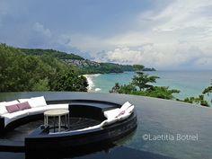 View from the main terrasse Nai Ton Beach Phuket