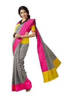 #designersareeus #Bollywood #Designer #Bhagalpuri #Silk #White & #Black #Coloured #Printed #Saree (ODNSR9223VPS) fabdeal, http://www.amazon.in/dp/B00IXGI1CM/ref=cm_sw_r_pi_dp_-Unwtb0AWRS85