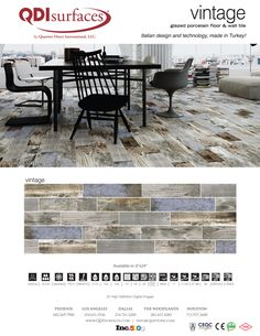Vintage Glazed Porcelain Tile Collection