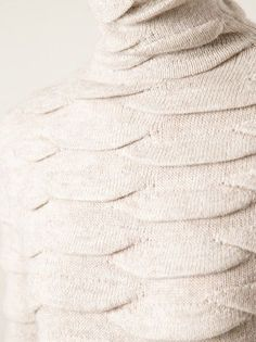 Knit scales by Anne Demeulemeester