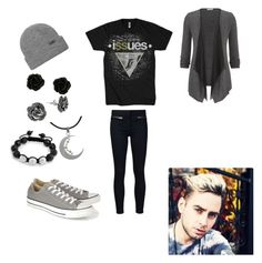 """""""Issues"""" by piercetheandy on Polyvore featuring maurices, Veronica Beard, HUF, Goldmajor, Carolina Glamour Collection, Bling Jewelry and Converse"""