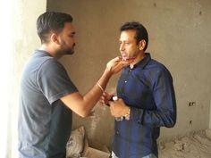 Motia Group Director L.C Mittal with a Radio Jockey @ 94.3 My Fm Chandigarh Golmaal Gagan