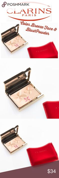 Clayton's Color Breeze Blush & Face Powder Limited Edition! No longer available.  Buyer receives copy of receipt for authenticity!  Once you start using this you won't stop!  So darling too!  Brand new inbox with velvet case.  Authenticity guaranteed. 💐 Bundle for up to a 10% discount💐. Non- smoking home.  💋💋Amy Clarins Makeup Face Powder