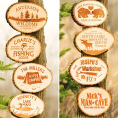 Personal Creations Personalized Pine Tree Cabin Sign