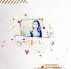 #papercraft #scrapbook #layout in a bubble by ShannaNoel at @Studio_Calico