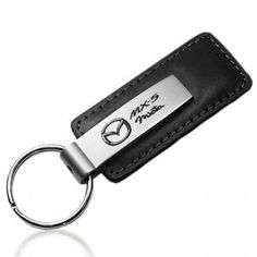 Mazda MX-5 Miata Black Leather Key Chain