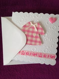 A personal favourite from my Etsy shop https://www.etsy.com/listing/233140252/pink-gingam-dress-baby-girl-card