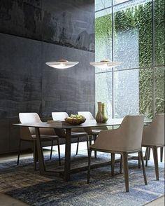 WEBSTA @ arq.paularoque - Sala Almoço / Jantar para inspirar ✨ Iluminação natural e pé-direito duplo deixam o ambiente mais amplo