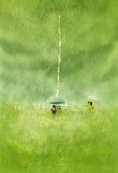 Summer shower. by PascalCampion.deviantart.com on @deviantART