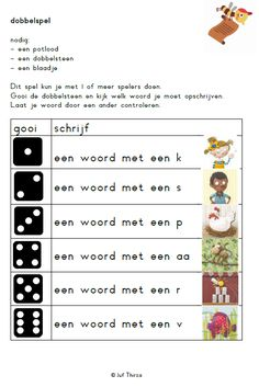 jufthirza.nl Dobbelspel spelling tot kern 1 veilig leren lezen kim-versie