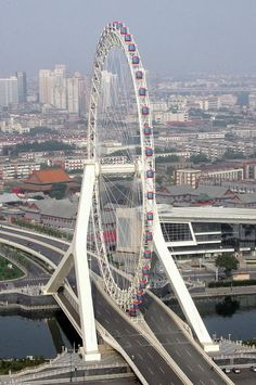 Tianjin Eye on Yongle Bridge ~ Tianjin, China