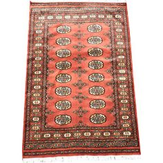 @Overstock - Accent your home decor with a striking area rug from Pakistan. This hand-knotted Bokhara rug is a unique piece of world art that will add to your living space with its geometric pattern of rust and ivory.http://www.overstock.com/Worldstock-Fair-Trade/Pakistani-Hand-knotted-Rust-Ivory-Bokhara-Wool-Rug-3-x-5/5247659/product.html?CID=214117 $169.99